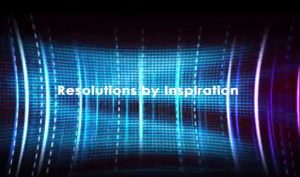 RESOLUTIONS BY INSPIRATION