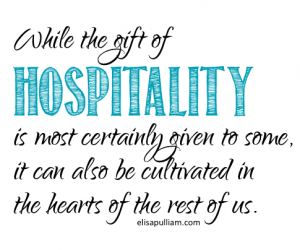 SPIRITUAL GIFT OF HOSPITALITY