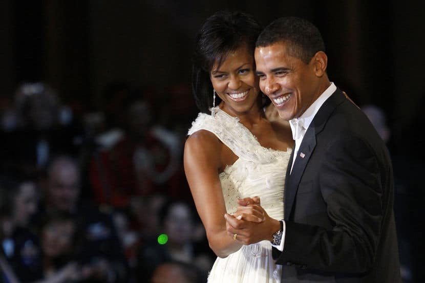 U.S. President Barack Obama and first lady Michelle Obama dance at the Commander-in-Chief Ball in Washington