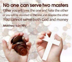 Mathew 6:24 - Goldthwaite